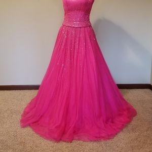 Riva Designs Beaded Ball Gown